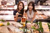 [TF포토] 신세계백화점, 말복 맞이 자연산 '전복·민어' 특가 판매