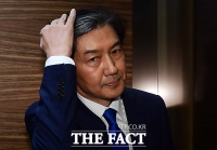 [TF포토] '사법부 개혁' 의지 밝힌 조국, '의연한 눈빛'