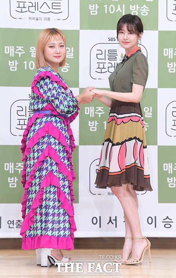 앙드레김 포즈 취하는 박나래-정소민