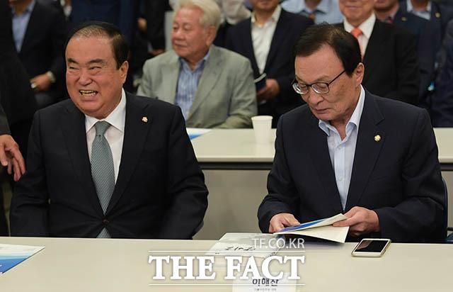 문희상 국회의장(왼쪽)과 이해찬 더불어민주당 대표