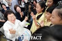 [TF포토] '위안부 피해자 기림의 날 기념식'…소녀로 돌아간 할머니들