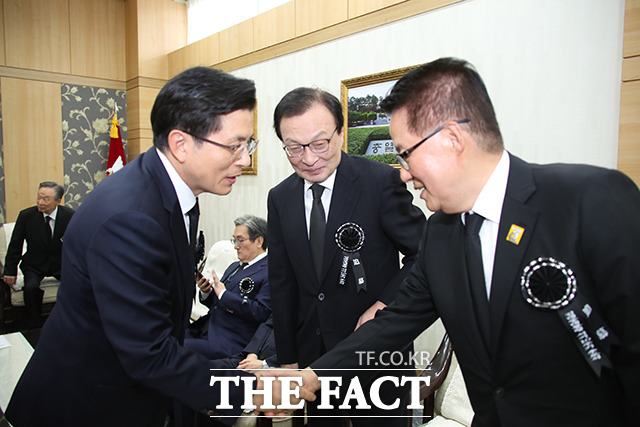 박지원 의원(오른쪽)