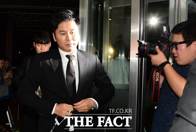 양현석 전 YG 대표가 도주 우려가 있다고 판단돼 경찰로부터 출국금지 조치를 당했다. /더팩트 DB