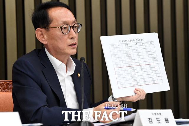 부산대 의전원 장학금 수혜 목록 공개하는 김도읍 의원