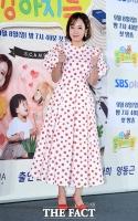 [TF포토] 소유진, '귀여운 도트무늬 드레스'