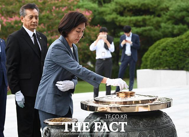분향하는 나경원 자유한국당 원내대표