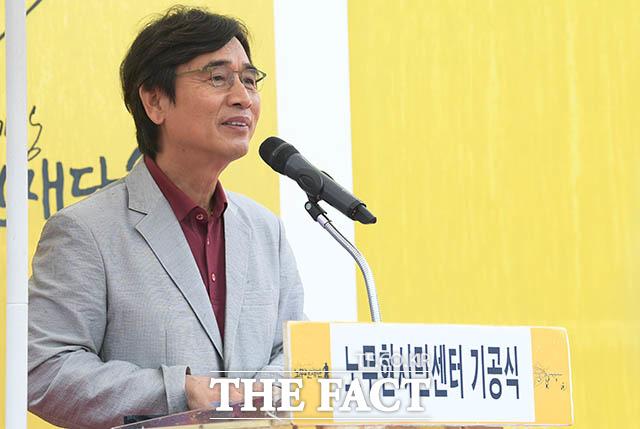 유 이사장은 최근 유튜브 채널 김어준의 다스뵈이다에 출연해 조 장관의 검찰 수사를 가족 인질극에 비유하기도 했다. /김세정 기자