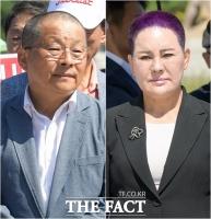 [TF포토] '조국 파면 촉구' 삭발식 동참한 차명진-송영선