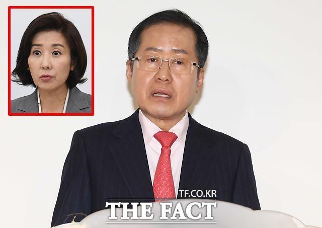홍준표 자유한국당 전 대표는 지난 21일 나경원 원내대표의 아들 원정출산 의혹에 대해 입장을 밝힐 것을 요구했다가 당내 비판에 직면했다. /이새롬 기자