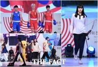 [TF포토] 모델과 선수들이 함께하는 '전국체전 이색 패션쇼'