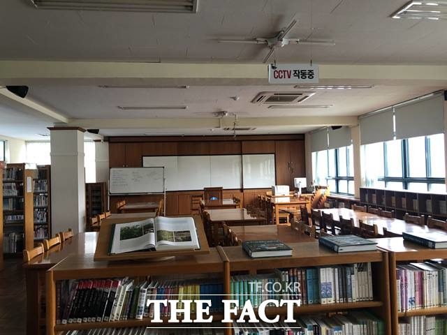 윤산중학교 역사관이 마련돼 있는 옛 도서관. /부산=박슬기 기자