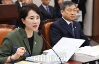 [TF포토] 국정감사에서 질의에 답변하는 유은혜 교육부 장관
