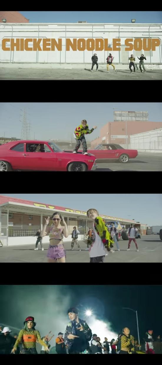 제이홉은 최근 솔로곡 Chicken Noodle Soup를 발표했다. 그의 춤과 음악적 역량을 확인할 수 있는 곡으로 전 세계 69개 국가 및 지역에서 톱 송 차트 1위를 차지했다. 사진은 뮤직비디오 모습. /뮤직비디오 캡처