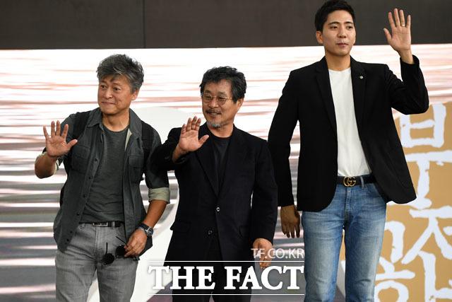 권해효, 기주봉, 신석호(왼쪽부터)