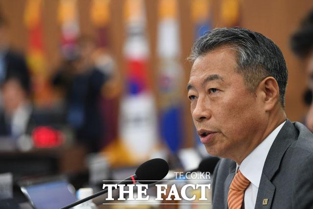 질의하는 정종섭 자유한국당 의원