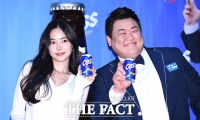 [TF포토] 손나은-김준현, '함께 마실래요?'…카스 신규 모델 발탁