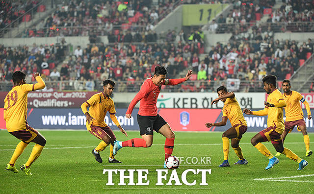 이어지는 한국 대표팀의 공격과