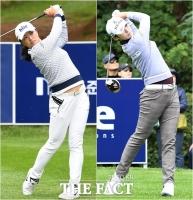 [TF포토] '세계랭킹 1·2위' 고진영-박성현…'안방에서 펼치는 열띤 경쟁'