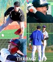 [TF포토] 제1회 아시안컵 연예인 야구대회, '첫 합동 훈련 돌입'