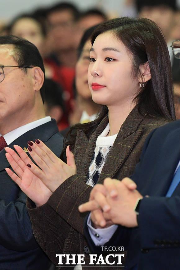 2019 KB굿잡 부산 잡 페스티벌 개막식에 참석한 피겨여왕 김연아