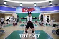 [TF포토] 평양 역도대회 참가한 대한민국 선수단