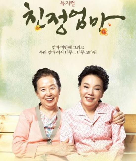 영화와 연극으로도 잘 알려진 친정엄마는 고혜정 작가의 동명 수필을 원작으로 뮤지컬은 지난 2010년 초연 이후 2013년까지 320회 공연을 하며 총 40만 관객을 동원했다. /뮤지컬 친정엄마 포스터