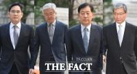 [TF포토] 다시 법정에 선 이재용-박상진-최지성-장충기