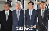 [TF포토] 법정 향하는 삼성 관계자 4인