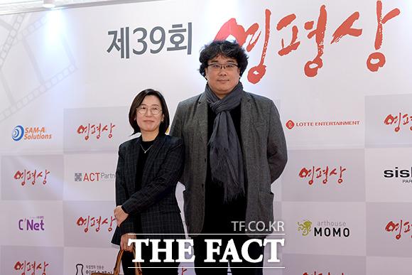 영화 기생충의 제작사 곽신애 바른손이앤에이 대표.