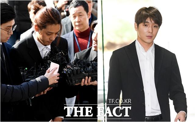 가수 정준영(왼쪽)과 최종훈이 징역 7년을 구형받았다. /더팩트DB