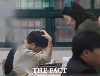 [TF포토] 긴장되는 순간…'수능 치르는 수험생들'