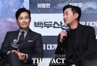 [TF포토] 이병헌-하정우, '충무로 대세 배우들의 역대급 만남'