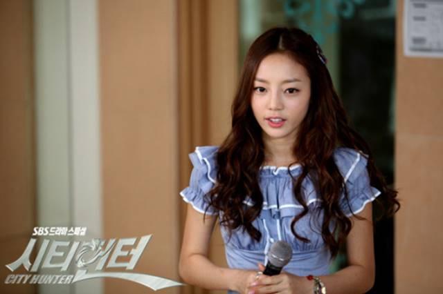 2011년 SBS 드라마 시티헌터에서 배우에 도전한 구하라. /SBS 시티헌터 제공