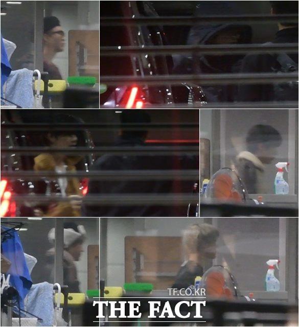 25일 오후 일본 후지TV FNS가요제 녹화방송을 마친 방탄소년단 슈가,정국,진,지민,제이홉,뷔(왼쪽위부터 시계방향으로)가 방송국을 빠져나가고 있다./도쿄=이효균 이덕인 기자