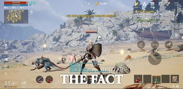 리니지2M의 종족은 휴먼·엘프·다크엘프·오크·드워프 총 5개다. 사진은 엘프 나이트로 즐기고 있는 모습 /게임 캡처