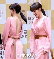 [TF사진관] 하지원, '앞·뒤가 다른 섹시 여신 드레스'