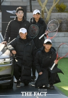 [TF포토] '테니스 스타' 정현, '모교 후배들과 함께'