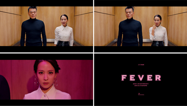 박진영의 신곡 FEVER은 음원차트 톱10에 오르는 등 좋은 반응을 얻고 있다. 사진은 뮤직비디오 속 장면. /JYP엔터 제공