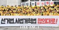 [TF포토] '선거법-사법개혁법 합의대로!'