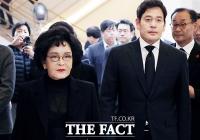 [TF포토] 고 김우중 회장 빈소 찾은 이명희-정용진