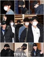 [TF포토] '가려도 눈부신 BTS의 출국길'