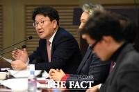 [TF포토] K-pop 병역문제 공청회 참석한 권성동 의원