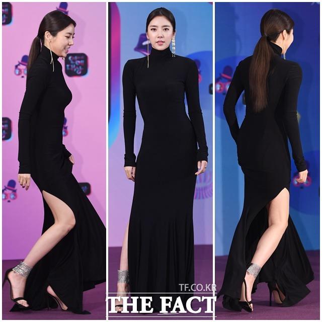 2019 KBS 연예대상 레드카펫 행사가 21일 오후 서울 여의도 KBS 본관에서 진행된 가운데 가수 겸 배우 손담비가 포토타임을 갖고 있다. / 배정한 기자