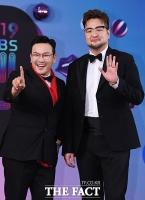 [TF포토] 딩동-김태우, '어색한 연예대상 나들이!'