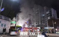 [TF포토] 서울 방학동 아파트 상가 화재
