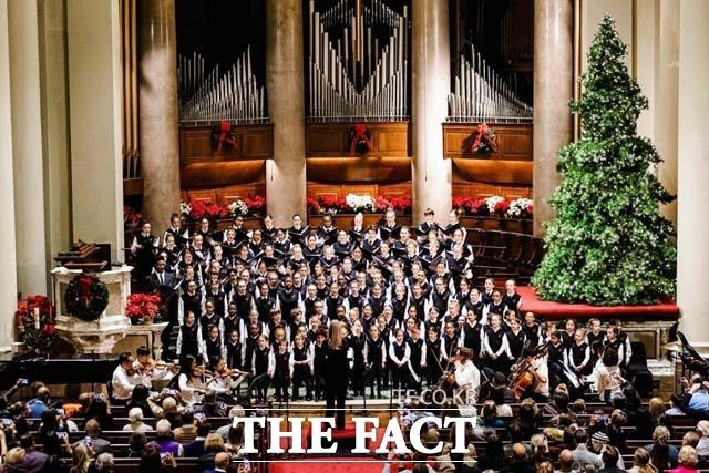 린덴바움 페스티벌 오케스트라가 미국 국립청소년합창단의 초청으로 합동 공연을 펼쳤다. 지난 14일 공연 당시. /린덴바움 페스티벌 오케스트라 제공