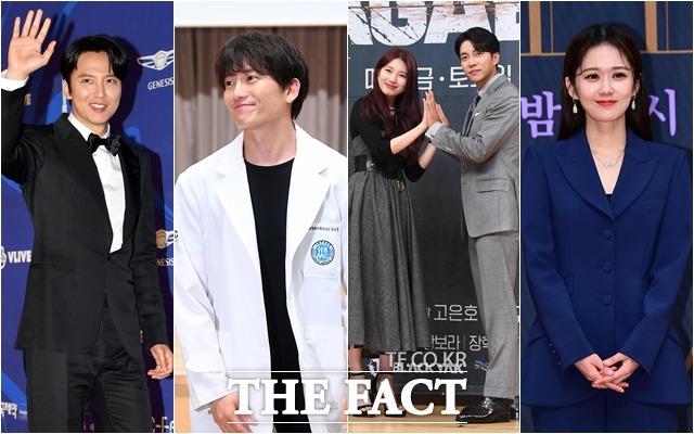 배우 김남길이 유력한 대상 후보로 떠오른 가운데 지성, 배수지, 이승기, 장나라의 이름도 거론되고 있다. (왼쪽부터) /더팩트DB