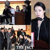 [TF사진관] 배현진, '황교안 호소문 대독… 한국당의 분위기 전환(?)'