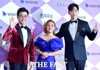 [TF포토] 김성주-박나래-조정식 'SBS 연예대상 진행해요~'