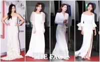[TF사진관] 순백의 여신 느낌 가득...'여배우들의 화이트 드레스'
